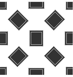 postal stamp seamless pattern on white background vector image vector image