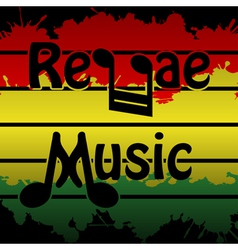 Reggae Music vector image