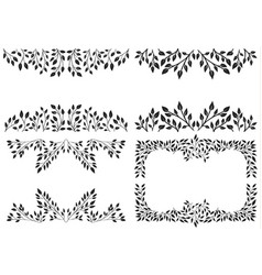 set of leafy background vector image