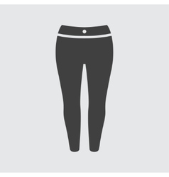 Woman trousers icon vector image