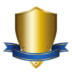 a shield emblem vector image vector image