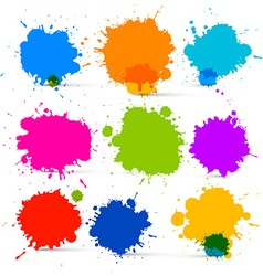 Colorful Isolated Blots - Splashes Set vector image