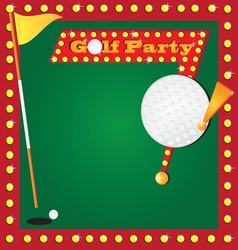 golf party invitation vector image vector image