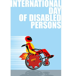 International Day of Persons with Disabilities Man vector image vector image