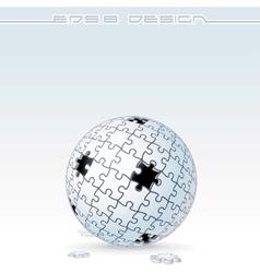 Jigsaw Puzzle Globe Conceptual Image vector image vector image