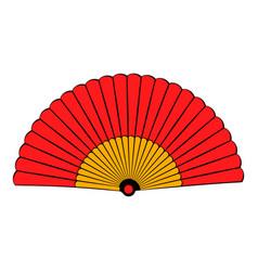 spanish fan icon cartoon vector image vector image
