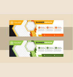 abstract banners trendy modern flat vector image