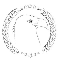 American eagle symbol vector