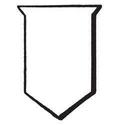 Argent shield is a escutcheon emblazoned vintage vector