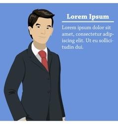 asian success businessman concept vector image