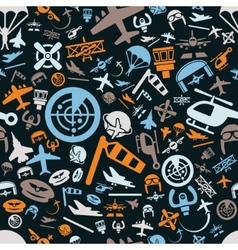aviation seamless pattern vector image