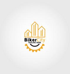 Biker City Logo Design Template Inspiration And Vector Image