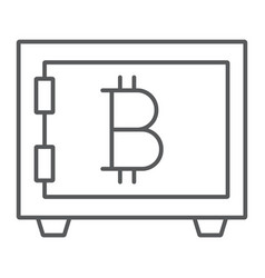 bitcoin storage thin line icon security and money vector image