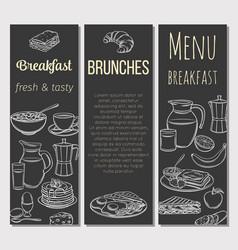breakfast template banner vector image
