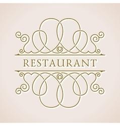 Calligraphic Luxury logo Emblem ornate decor vector