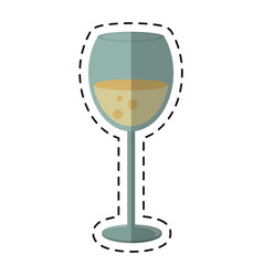 Cartoon glass cup beverage drink vector