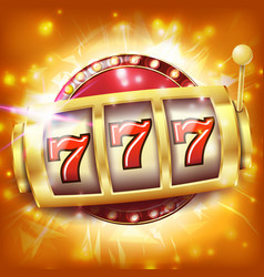 Casino slot machine banner sevens jackpot vector
