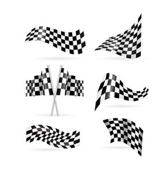 checkered flag set vector image