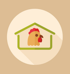 chicken house icon vector image