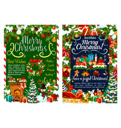 christmas gifts decoration greeting cards vector image