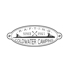 Coldwater Camping Emblem Design vector