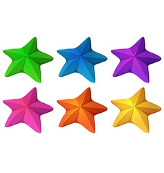 Colourful starfishes vector