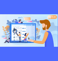 concept of recruitment to work in the company vector image