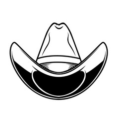 cowboy hat isolated on white background design vector image