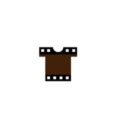 creative t-shirt silkscreen film logo symbol vector image