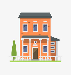 cute colorful flat style house village symbol real vector image