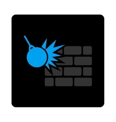 Destruction icon vector