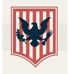 Eagle shield vector