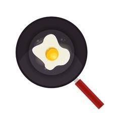 Eggs Fried in frying pan vector