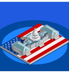 Election infographic congress isometric building vector