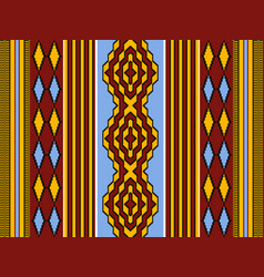Ethnic african seamless pattern with geometric vector