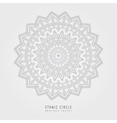 Ethnic mystical pattern with triangle and circles vector image