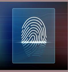 fingerprint scan data security and biometrics vector image