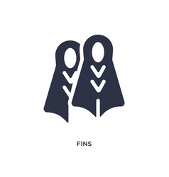 Fins icon on white background simple element from vector