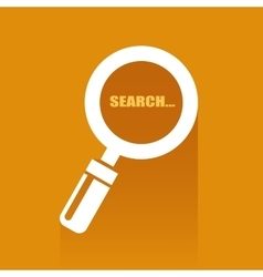 Flat with search icon vector image