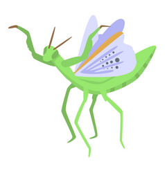 Flying mantis icon isometric style vector
