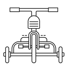 front tricycle icon outline style vector image