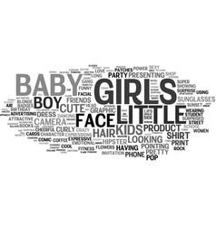 Girls word cloud concept vector