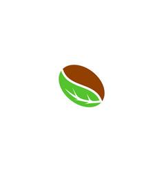 green coffee logo icon design vector image