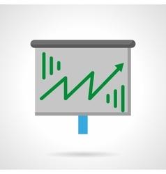 Green growth arrow flat color icon vector image