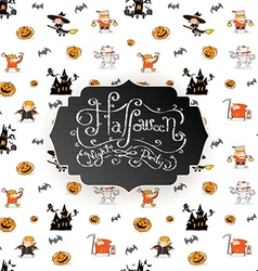 Halloween Pattern Seamless Background Little Devil vector image