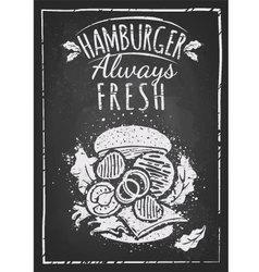 Hamburger poster vector