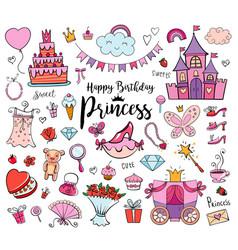 Happy birthday princess vector