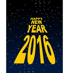 Happy new year amid the black sky Dark space and vector image
