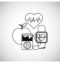 Healthy lifestyle design bodycare icon flat vector