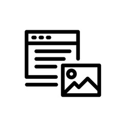 Icon content photos and texts icons on a white vector
